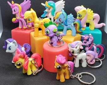 My Little Pony Friendship Is Magic Upcycled Toy Character Keychains (Multiple Styles)