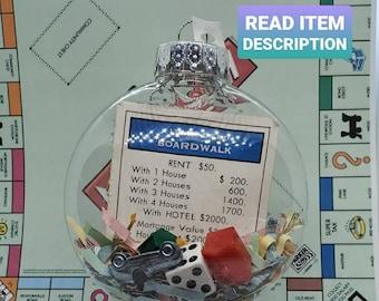 Monopoly Shredded Money Upcycled Ornament CUSTOMIZABLE (Hook Optional) Read Item Description
