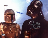 David Prowse (Darth Vader) and Jeremy Bulloch (Boba Fett) Autographed Signed 11x14 Star Wars Photo with Beckett COA