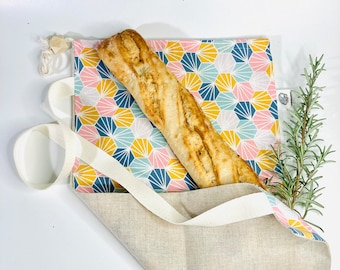 The Baguette Bag: large zero waste bag in cotton and linen