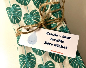 Zero waste washable wiper: batch of 6 or 9 cloth sheets