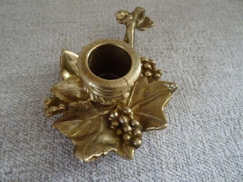 ELEGANT VINTAGE COPPER 2 14 Candle Holder Candlestick Holder Grapes Leaf Candle Decor Unique  Collectible For Vintage House Romantic Gift