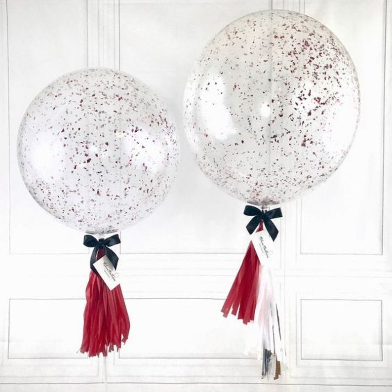 """GIANT ROSE GOLD Confetti BALLOONS 3 Pk ~36/"""" INCH~Luxury~Party Garland available"""