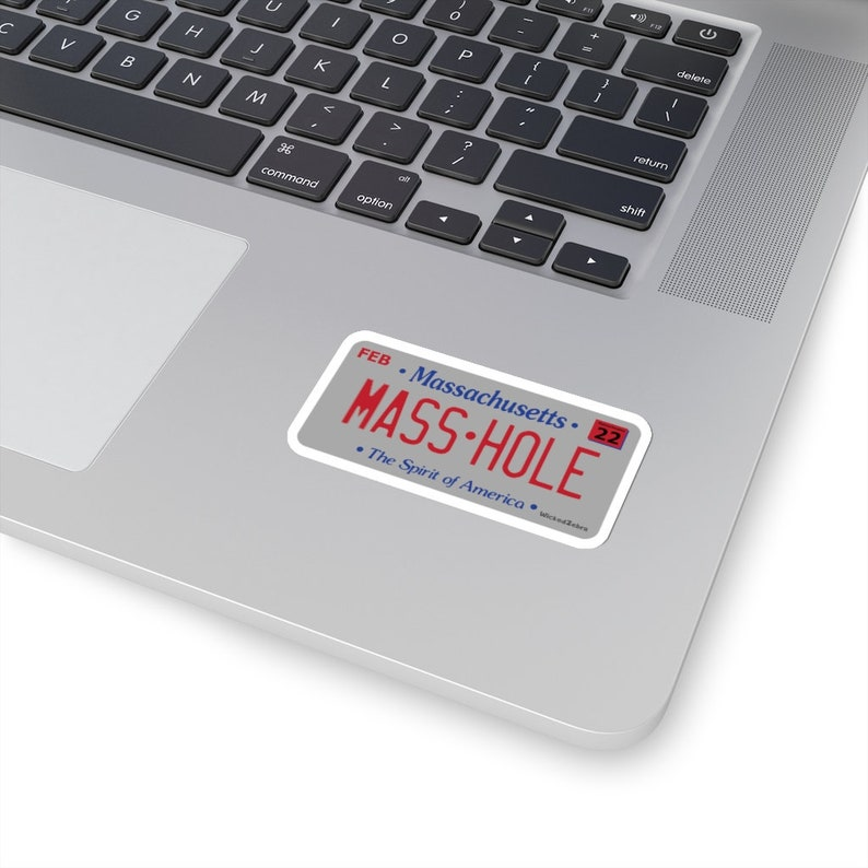 Masshole Kiss-Cut Sticker Funny Massachusetts License Plate