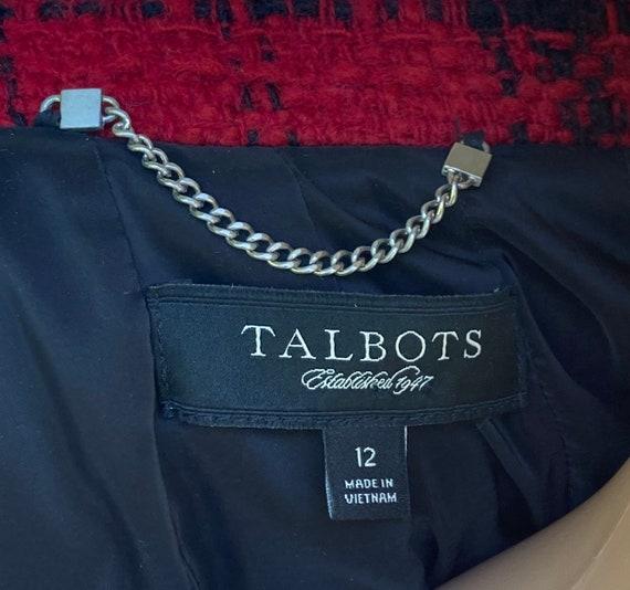 L Wool Boucle Blazer Tweed Peacoat by Talbots Dou… - image 10