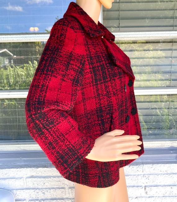 L Wool Boucle Blazer Tweed Peacoat by Talbots Dou… - image 6