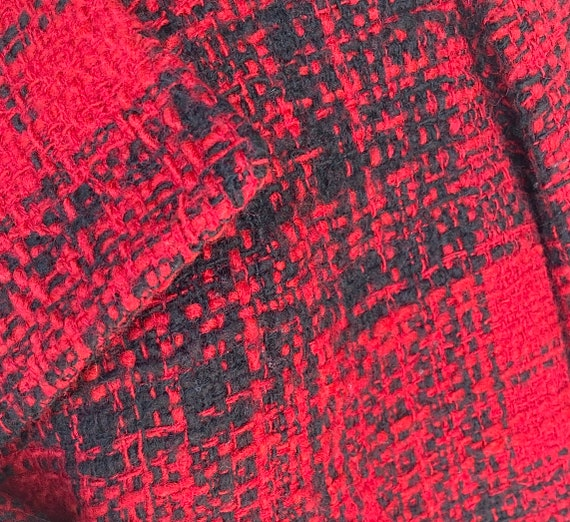L Wool Boucle Blazer Tweed Peacoat by Talbots Dou… - image 4