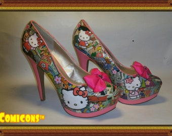 Hello kitty pumps | Etsy