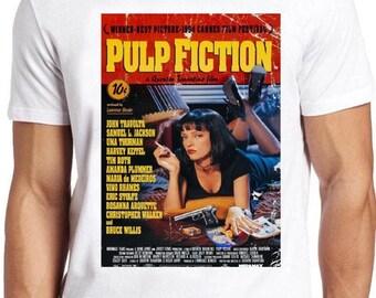 Pulp Fiction Tarantino Classic Crime Movie Fan T Shirt Gildan Ultra Cotton Men