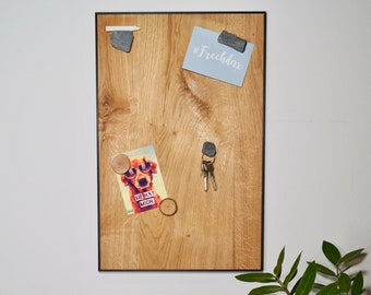 Magnetic panel made of wood