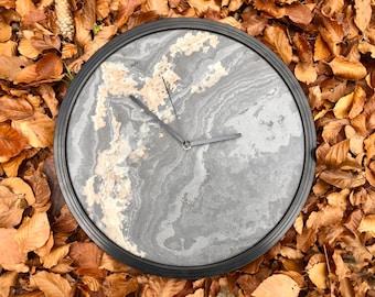 Wall clock made of slate