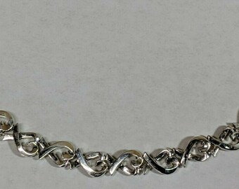 39215ceb0 Tiffany & Co Paloma Picasso Sterling Silver 925 Loving Heart Continuous  Bracelet