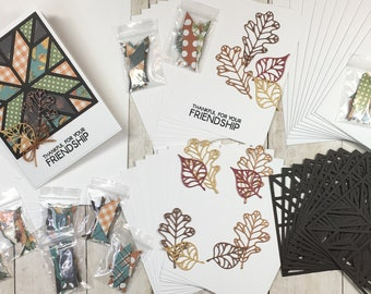 A Quilted Friendship DIY Card Kit, Quilt Card, Seasonal Cards, DIY Card Kit, Handmade Quilt, Handmade Quilt Card Kit, Quilt, Autumn, Fall