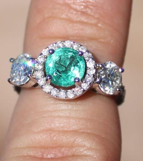 Certified 3.70Ct Pear Cut Blue Sapphire /& Diamond 14k Gold Engagement Ring set