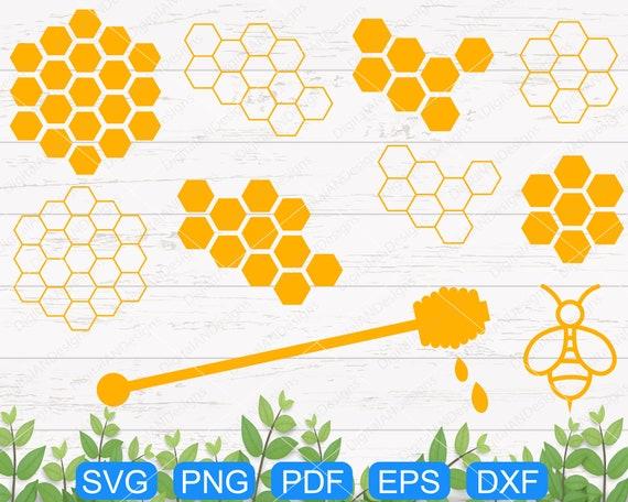 Honeycomb Svg Honey Scoop Bee Dipper Background Bee Comb Etsy