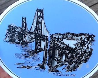 Golden Gate Bridge Sticker