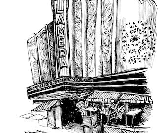 Alameda Theatre Print