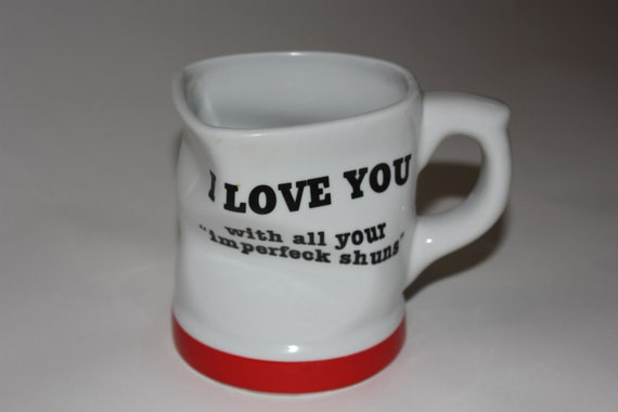 Vintage Wrinkled I Love You With All Your Imperfeck Etsy
