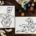 Dungeons & Dragons - Pinup Dice Kobolds -  DnD, Gamer, Anthro, Nerdy, Furry vinyl decal, bumper sticker for cars, laptops
