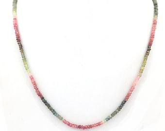 4.5 mm Watermelon Tourmaline----Natural Gemstone----N546 Multi TOURMALINE Faceted Rondelle--