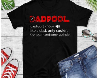 8a7313ae Dadpool like a dad only cooler seriously need a speed bumpDeadpool PikaPool  father's Day Gift for dad grandpa papa funny unisex tank