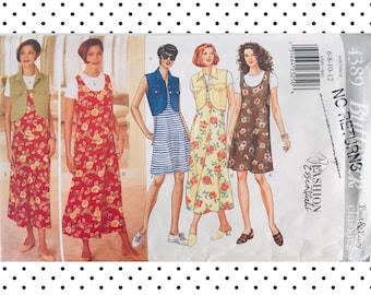 Very Easy Vogue V7991 Knit Dress Long Sleeve W//flounce Size Aa 6-8-10-12