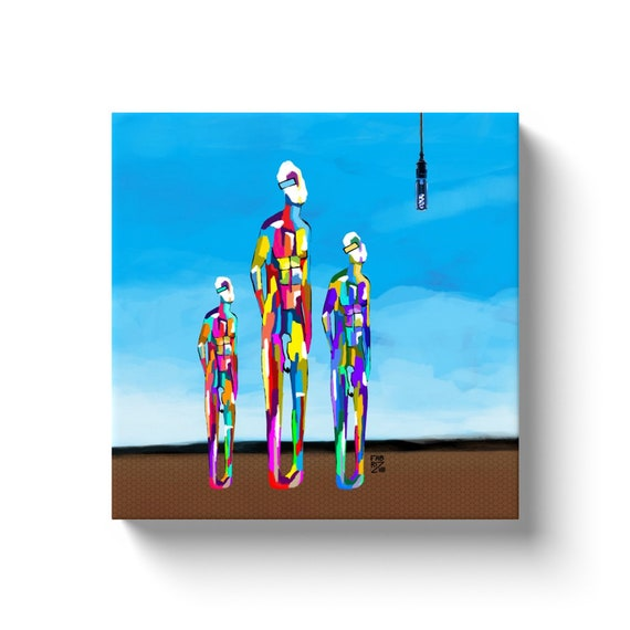 "Astro Light  12"" x 12""  Canvas"