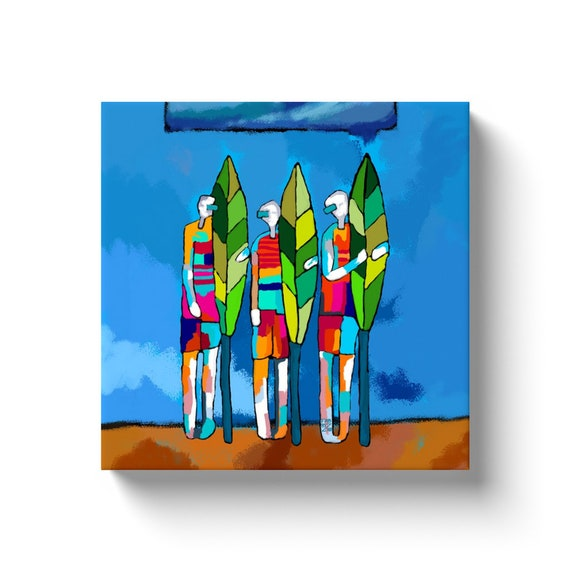"Surfing The Planet  12"" X 12""  Canvas"