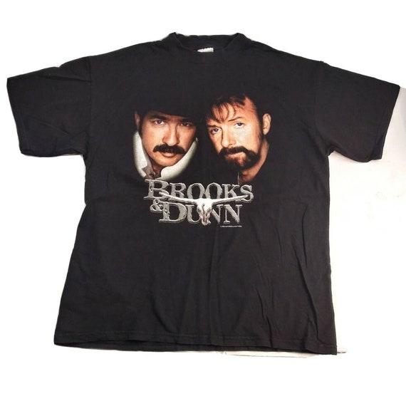 Vintage Brooks /& Dunn Long Sleeve Shirt Size Medium Z10