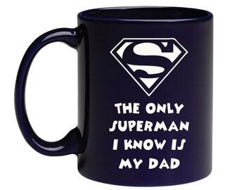 Personnalisé Gravé Superman Logo Pint glass perfect Best Man Cadeau