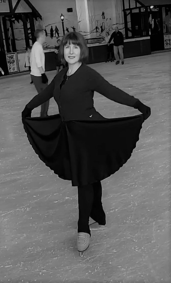 White lycra dance circular skirt all sizes