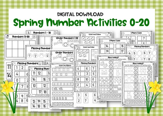 Spring Numbers 0-20 Activities