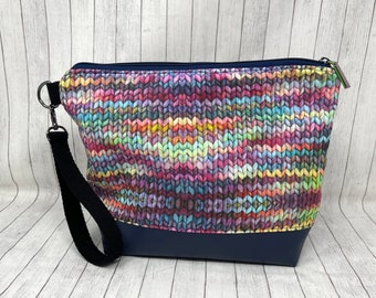 All of the Things Rainbow Stockinette Bag