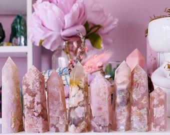 Flower Blossom Agate Crystal Towers / Crystal Of Manifestation & Self Growth / Feminine Energy / Good For Flourishing Entrepreneurs
