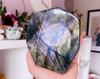 1kg Sunset Purple Labradorite Freeform Crystal / Helps Transformation & Change, Inspires You To Achieve Your Dreams / Uplifts Your Mood
