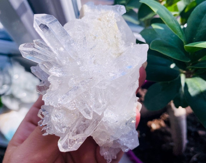 5) Large Clear Quartz Crystal Cluster / Must Have Crystal / 'The Master Healer' / Amplifies Intention & Energy / Protects Against Negativity