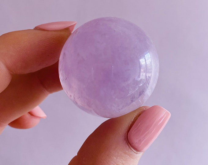 Amethyst Crystal Sphere / Great Healer, Good For Anxiety, Stress & Sleeping Troubles / Great For Migraines