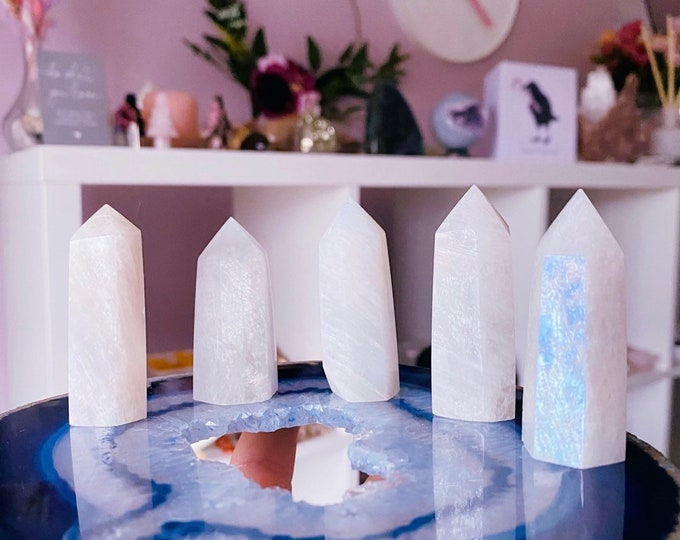 Rainbow Moonstone Crystal Towers / Improves Inner Confidence / Allows Us To See More Clearly / Positive Change / Life Changing Inspiration