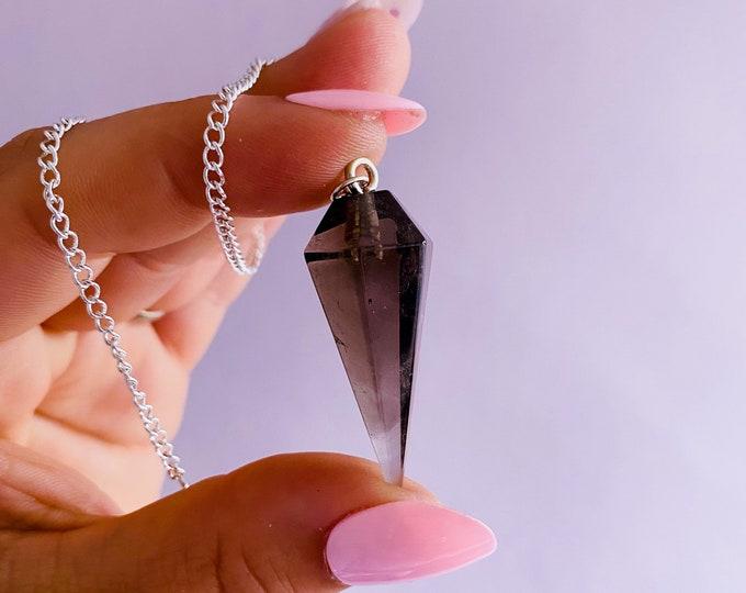 Smokey Quartz Small Crystal Pendulum Dowsers / Neutralises Negativity, Disspels Depression & Anxiety, Reduces Suicidal Tendancies