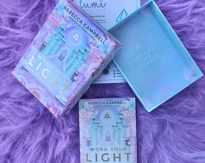 Work Your Light by Rebecca Campbell Oracle Cards With Book / Tune In To Your Infinite Potential / Hear Messages From Spirit / Oracle Cards