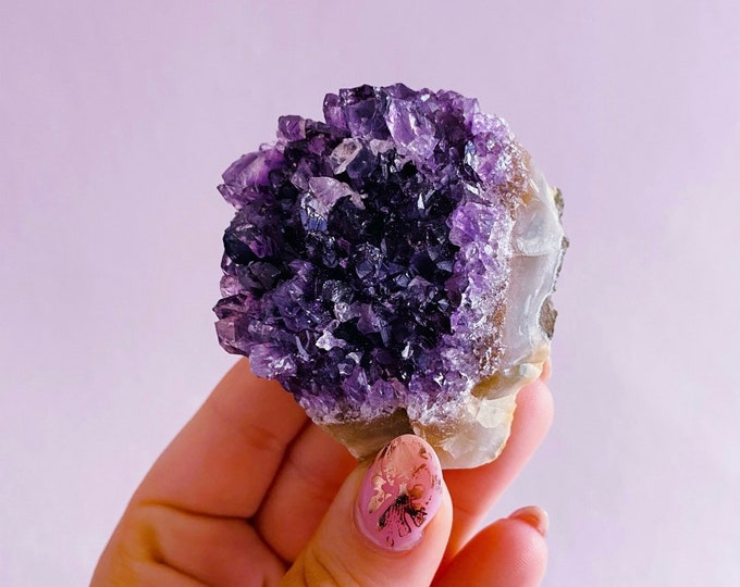 Uruguayan Amethyst Crystal Druzy's / Great Healer / Good For Sleeping Troubles / Great For Migraines & Headaches / Relieves Anxiety, Stress