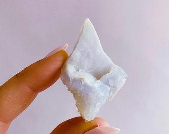 Rare Blue Lace Agate Rough Crystal / Calming & Nurturing / Reduces Anger, Irritation, Frustration / Encourages Honest Communication