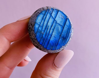 Super Flashy Labradorite Dragon Egg Crystals / Helps Transformation & Change, Inspires You To Achieve Your Dreams / Uplifts Your Mood