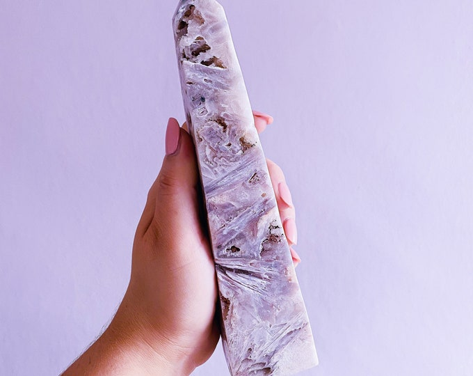 Stunning Druzy Pink Amethyst Obelisk / Great For Soul Guidance & Being Open To All Love / Eases Anxiety, Stress, Nightmares / Heart Chakra