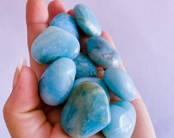 Amazonite Crystal Love Hearts / Calming, Soothing, Calms Bad Tempers, Allows You To Express True Thoughts & Feelings / Provides Harmony