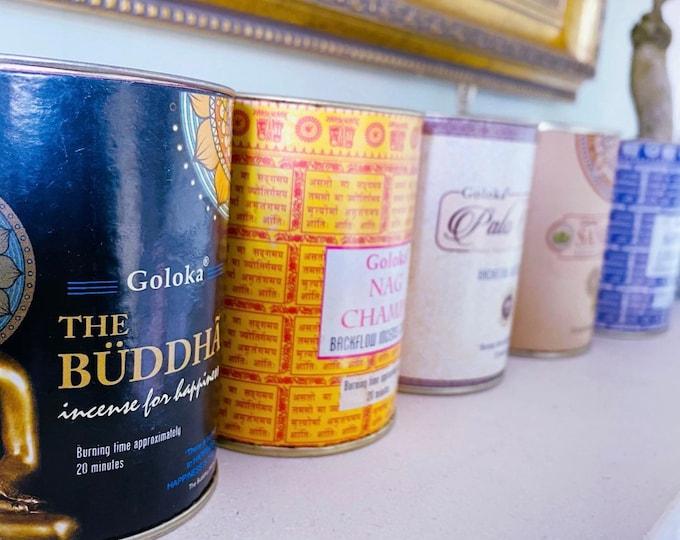 Palo Santo, Lavender, Buddha, Sandalwood Goloka Fragranced Backflow Incense Cones / Cleanse Your Crystals / Home Fragrance / Incense