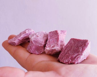 Pink Jasper Raw Rough Crystals / Raw, Natural Crystals / Crystal Of Empowerment / Overcome Abuse / Provides Protection / Love Crystal