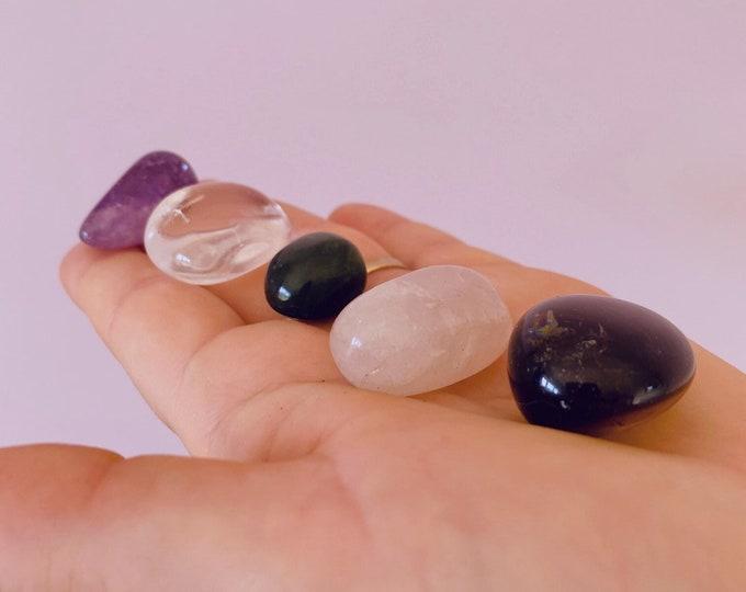 Sleep Better Crystal Prescription Kit / Reduces Nightmares, Disturbed Sleep & Insomnia / Blocks Negativity / Encourages Dreams