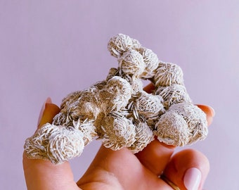 Desert Rose Selenite Crystal Specimens / Helps You To Deal With Abuse / Good For A Balanced Sex Drive / Acne, Psoriasis & Eczema