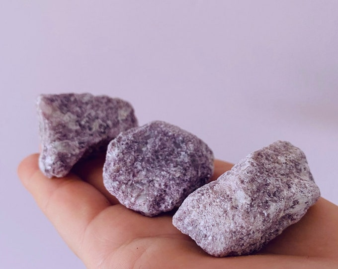 Sparkly Lepidolite Rough Crystal Specimens / Mood Stabiliser, Increases Tranquility & Calmness During Stress / Helps Reduce Anxiety